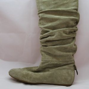 Grey / Taupe Suede Dior Cannage Boots size 37.5